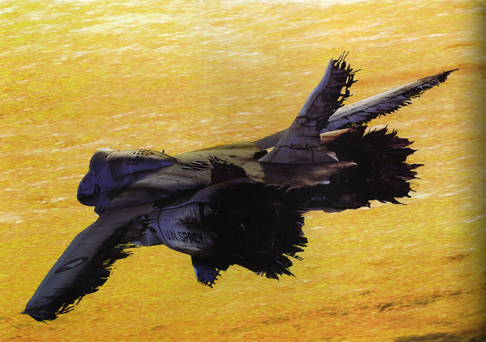 Macross: Art of the VF-0 from the end of Macross Zero