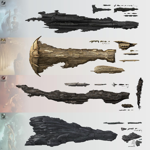 EVE-Online: Giant Ships in the EVE universe