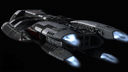 Battlestar Galactica: The Battlestar Galactica top to rear