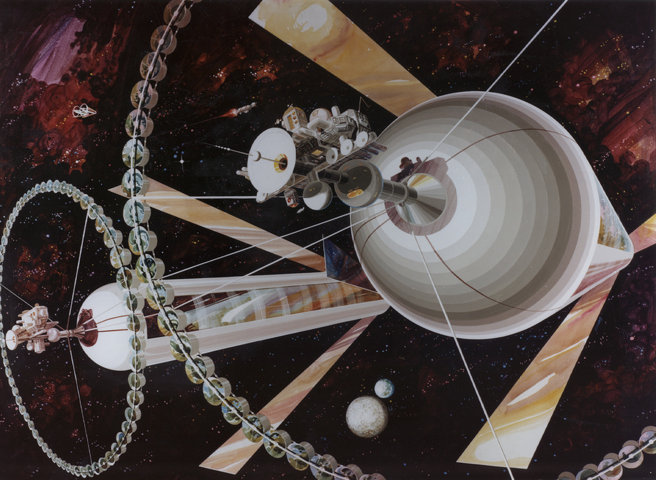 Classic Science Fiction: O'Neill cylinder style space station