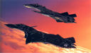 Macross: The YF-19 and YF-21 in flight