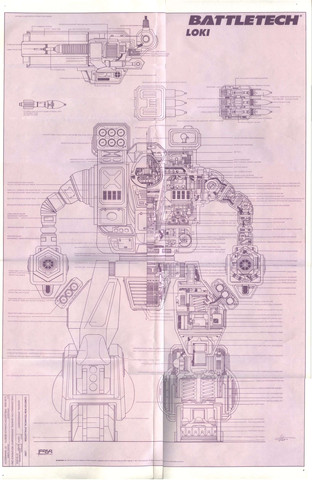 Battletech: Loki technical diagram