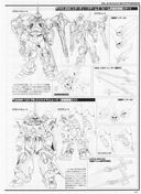 Gundam: Line art of the YFX-200 and the ZGMF-1017M