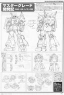 Gundam: Line art of the RMS-106
