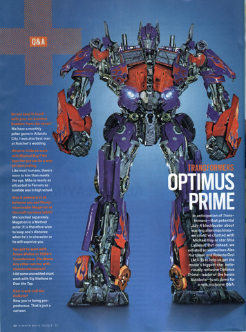 Transformers: New movie version Optimus Prime