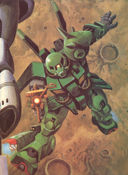 Gundam: Does this Zaku's leg look funny to you?