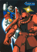 Gundam: Amuro gets the drop on Char