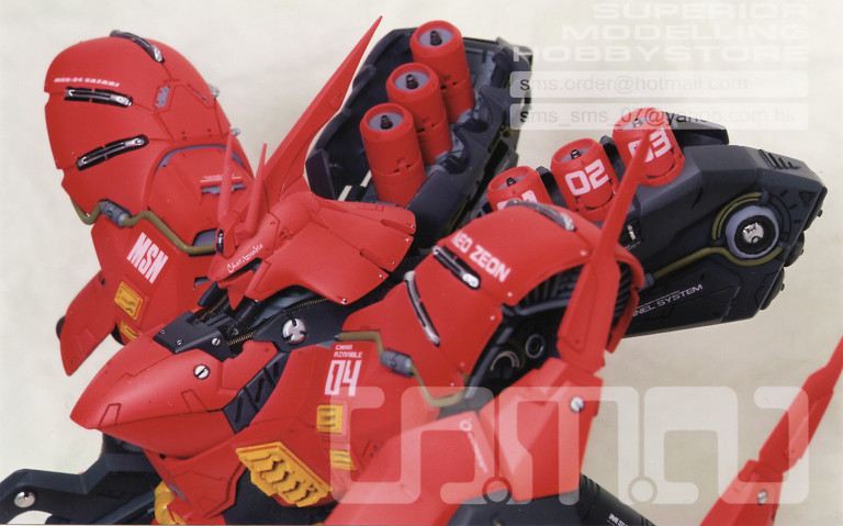 Gundam: Photo of 1/100 Sazabi /w Patchwork resin conversion from Neograde