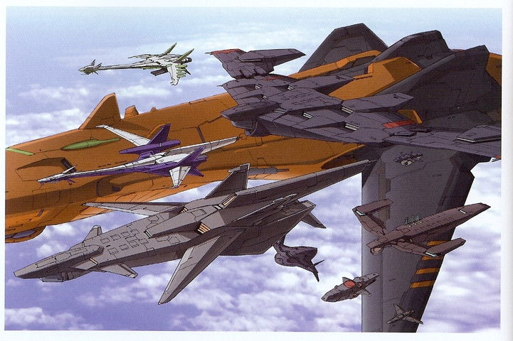 Eureka Seven: Size guide of all the ships in E7