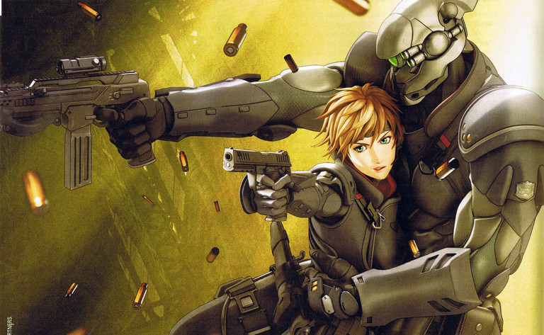 Appleseed: Deunan and Briareos from the 2004 film