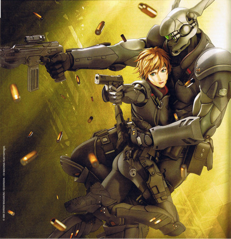 Appleseed: Deunan and Briareos from Ex Machina full size