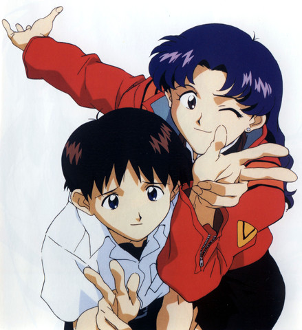 Evangelion: Wow, Shinji looks uncomfortable there