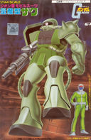 Gundam: Old Zaku II model kit box cover