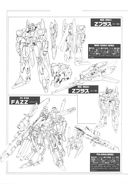 Gundam: Z Plus and FAZZ Gundams line art