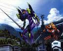 Evangelion: Eva-01 and Eva-00 heading to battle