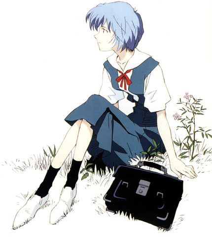 Evangelion: Rei at the end of the day
