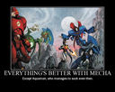 Demotivation: Everythings better with mecha
