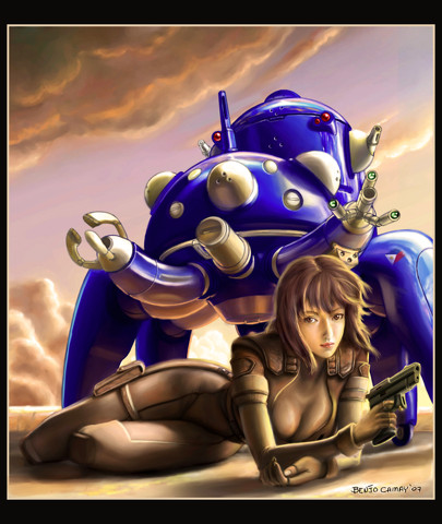 Ghost in the Shell: Motoko and a Tachikoma