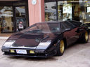 Real Life: A black Lamborgini Countach LP400S without spoiler (1 of 5)
