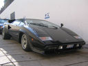Real Life: A black Lamborgini Countach LP400S with spoiler (1 of 2)