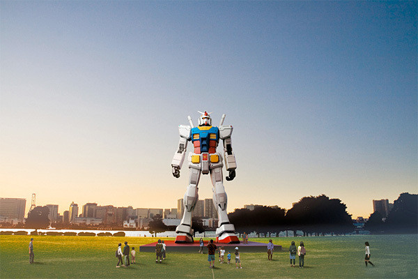Gundam: Life size statue of the Gundam