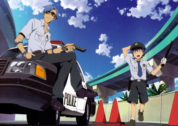 Gurren Lagann: The cast as police officers… where have I heard this before?