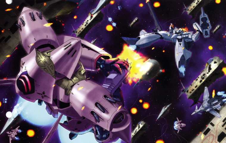 Macross: I'm just wondering why someone would paint a war machine pink