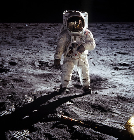 Here Men From The Planet Earth First Set Foot Upon the Moon, July 1969 A.D. We Came in Peace For All Mankind