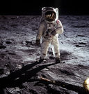 Real Life: Here Men From The Planet Earth First Set Foot Upon the Moon, July 1969 A.D. We Came in Peace For All Mankind