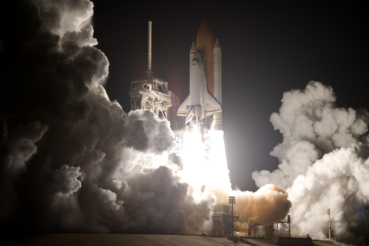Real Life: STS-128 taking off