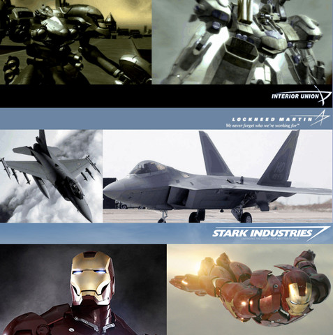 Armored Core, Iron Man, Real Life: Lockheed Martin has an iconic logo