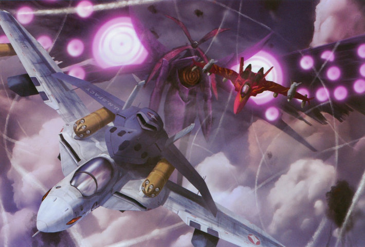 Macross: One half shit blowing up, one half robots that transform into jets, one half chicks singing