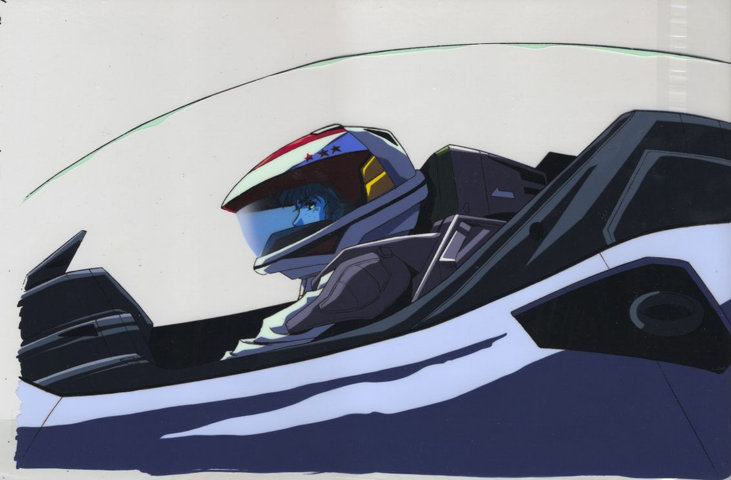 Macross: Cockpit animation cell