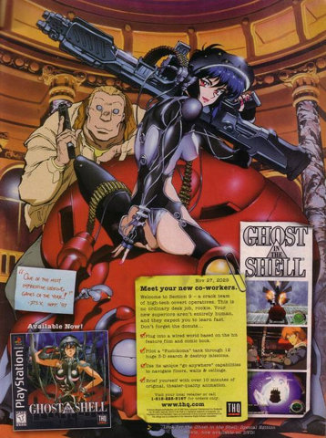Ghost in the Shell: An ad for the Playstation game