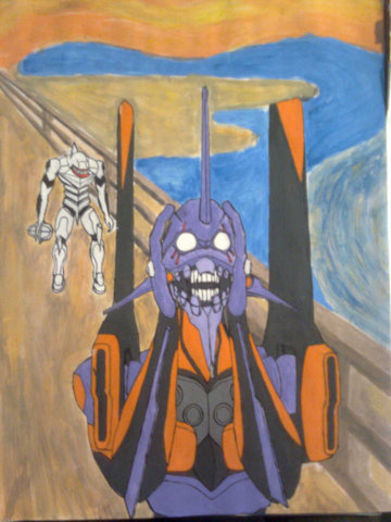Evangelion: Edvard Munch is now rolling in his grave
