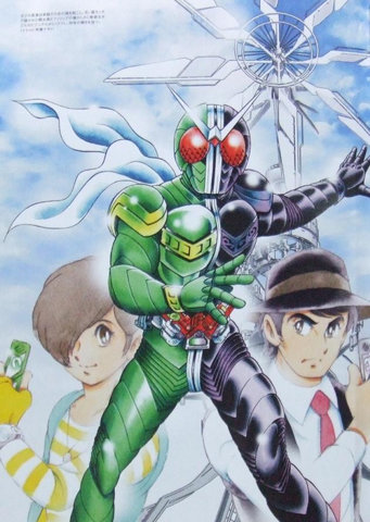 Kamen Rider: Kamen Rider W in a more familiar art style this time