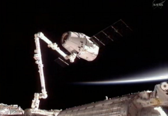 Real Life: SpaceX Dragon successfully docked with the ISS
