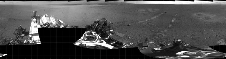Real Life: A mosaic of Curiosity's first drive