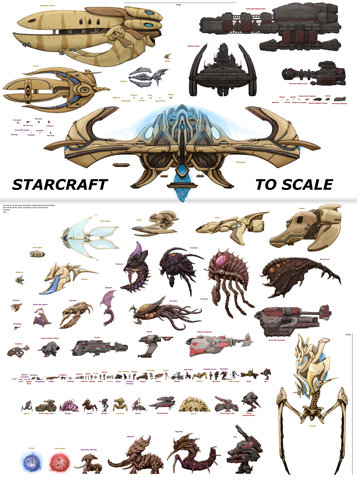 Starcraft: Starcraft to Scale